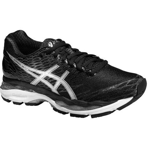 asics womens black running shoes asics womens gel nimbus 18 running shoes black