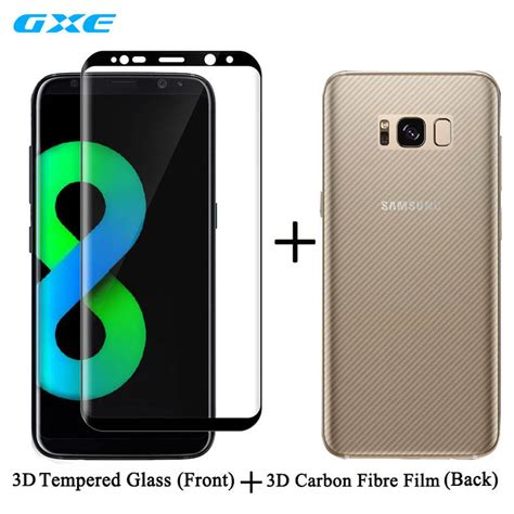 Samsung Galaxy S7 3d Carbon Back Screen Guard Anti Gores 3d curved screen protection front tempered glass for samsung galaxy s8 s8 plus s7 edge