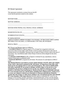Trailer Rental Agreement Template 6 Best Images Of Rv Transfer Of Ownership Agreement Rv