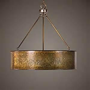 metal drum pendant light antiqued gold metal large drum pendant 5 light
