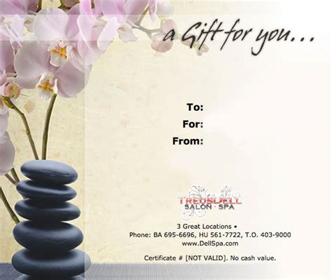 Massage Gift Card Template - massage certificate work pinterest gift certificate template gift certificates