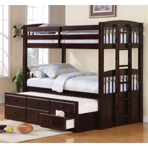 coaster bunk bed coaster logan twin over twin bunk bed with trundle