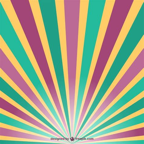 retro sun rays vector vector free download