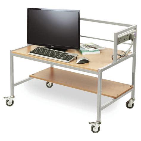 computer trolley desk single tier computer trolley desk