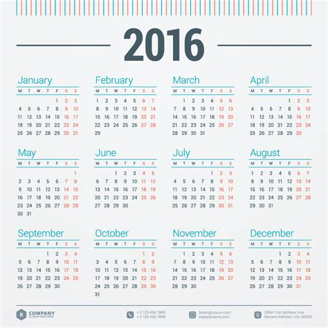 printable calendar 2016 vector monday calendar 2016 vector free vector graphic download