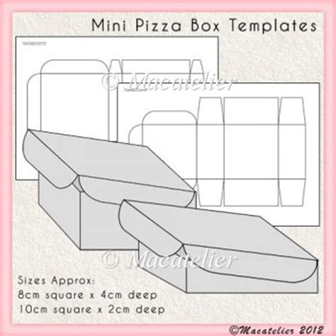 templates for mini boxes mini pizza box templates 163 2 50 commercial use scraps