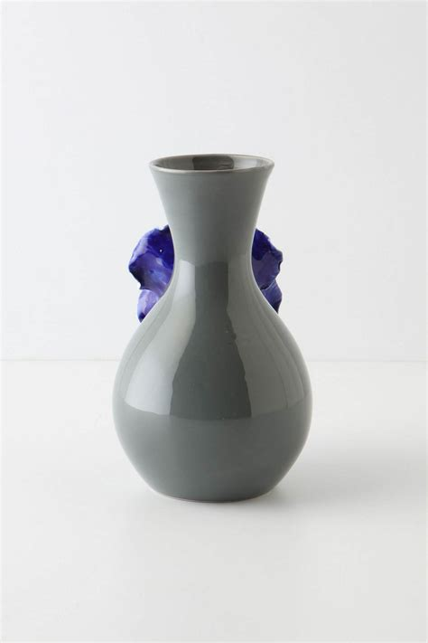 Anthropologie Vase by Anthropologie Blue Pansy Flower Vase Buyma