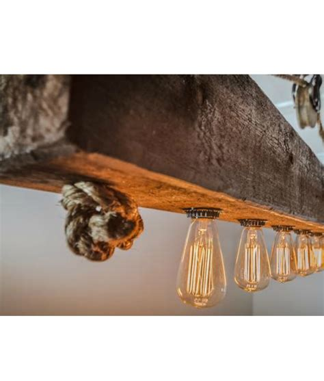 rustic wood chandelier rustic wood beam chandelier with edison bulbs rope and pulley