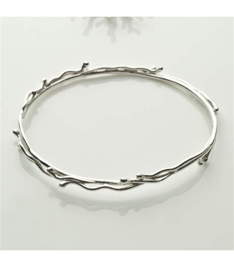 Handcrafted Silver - handmade sterling silver bangle astral collection