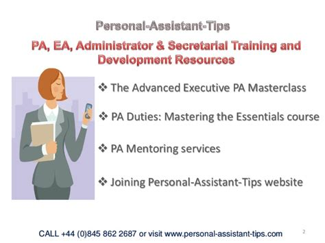 personal assistant tips slideshare ver 2 2015