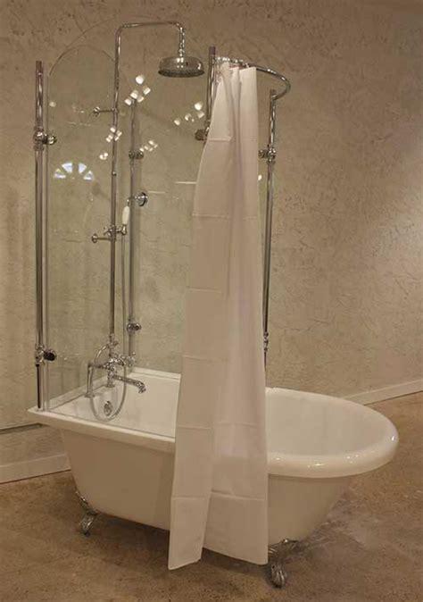 Claw Foot Tub Shower Enclosure by Acrylic Clawfoot Tub With Glass Shower Enclosure