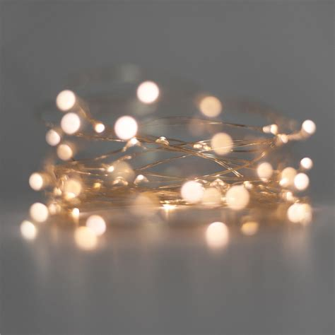 Battery Operated Fairy Lights Warm White 40 Led Fine Wire Lights White