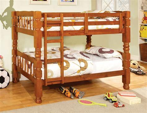 oak bunk bed cm2527oak carolina twin twin bunk bed in oak