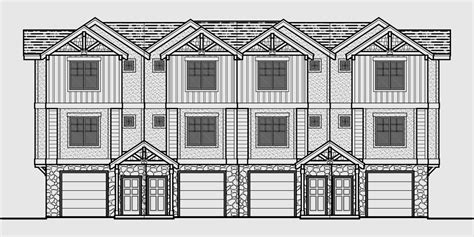 3 Story Townhouse Floor Plans Townhouse Plans 4 Plex House Plans 3 Story Townhouse F 540