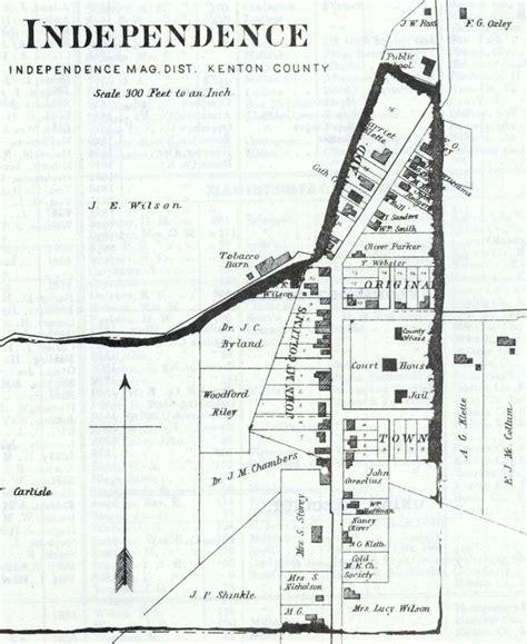 independence kentucky map map of independence kentucky 1883