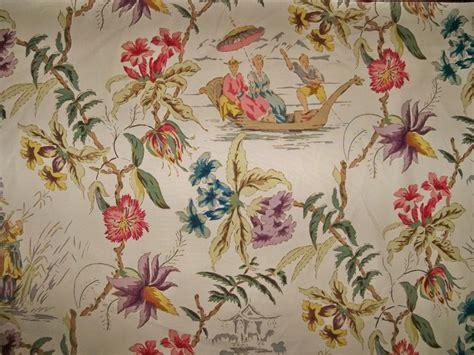 chinoiserie upholstery fabric schumacher yangtze chinoiserie pagoda toile fabric 7 yards
