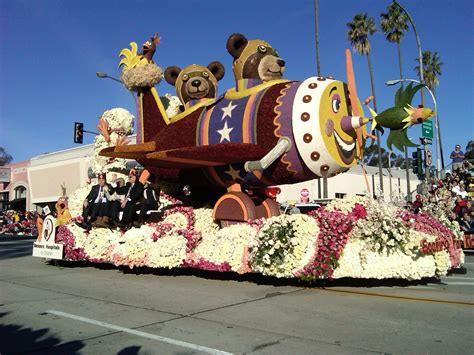 theme rose parade and oh did we flying teddy bears roaming dinosaurs and