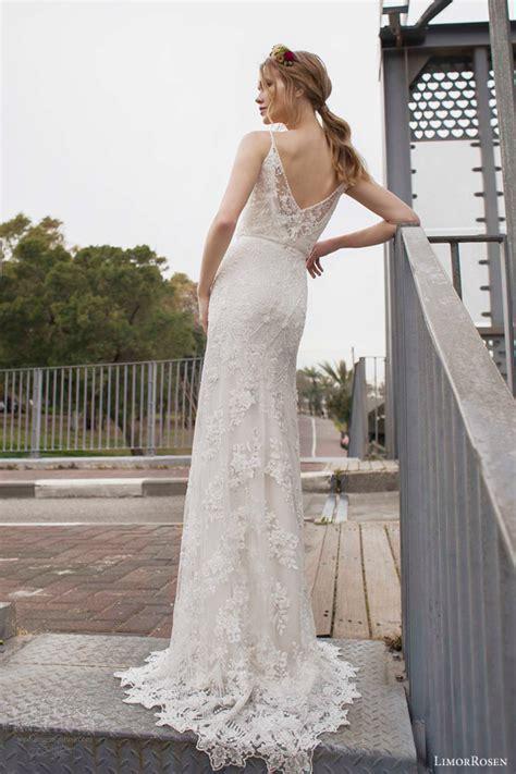 deco wedding gowns limor 2015 norma sleeveless beaded sheath blouson deco wedding dress straps back view