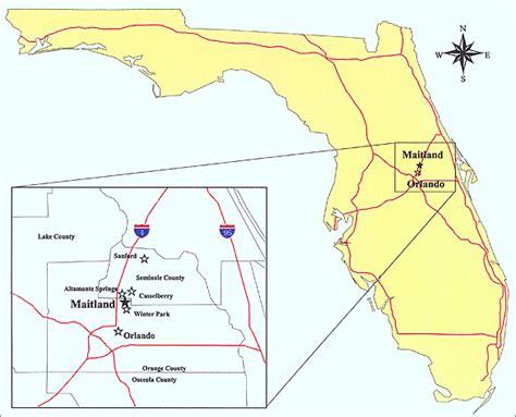 where is maitland florida on a map city of maitland florida