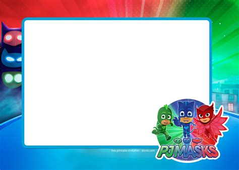 character card template photoshop free pj masks birthday invitation templates free