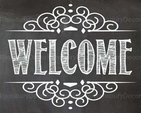 Welcome Chalkboard Sign Digital Chalkboard Sign By Ransburydecor Chalkboard Sign Template