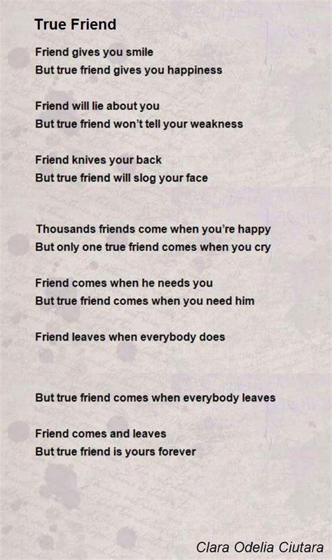 true friend poems true friend poem by clara odelia ciutara poem hunter