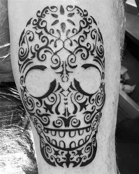 detailed tribal tattoos 50 tribal skull tattoos for masculine design ideas