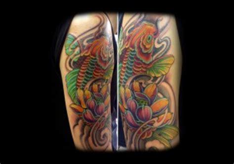 tatuaggi carpa con fiori di loto carpa e fiore di loto tatuaggio giapponese mornink