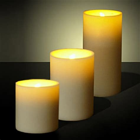 candele led pack of three led candles with flickering light