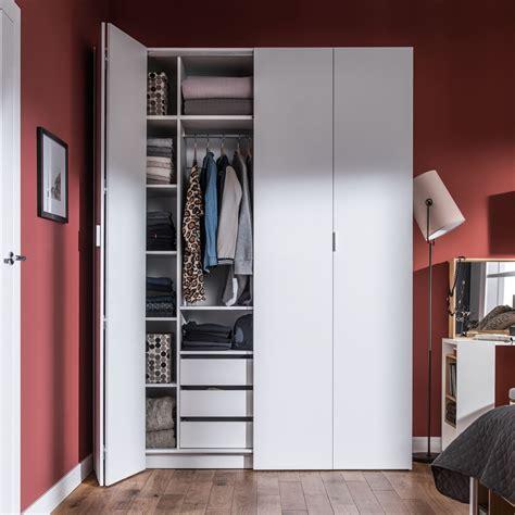 4you bi fold 4 door wardrobe with built in drawers in
