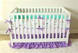 mermaid baby bedding mermaid crib bedding baby bedding purple mint