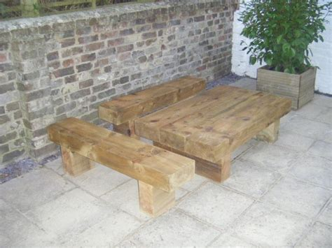 Garden Furniture Made From Railway Sleepers by Roy S Garden Furniture From New Railway Sleepers