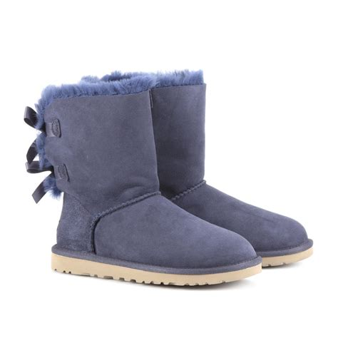 with ugg boots ugg bailey bow boots in blue navy lyst