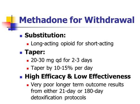 Methadone For Detoxing opioid addiction david kan m d of california
