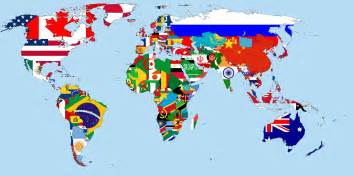 world map with country name and flag flags of the world by condottiero on deviantart