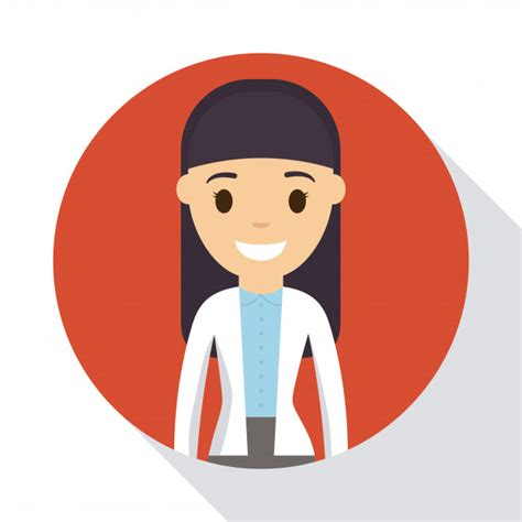 doctor woman icon vector premium