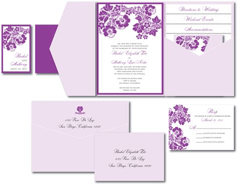 Purple Wedding Invitations by Lavender Wedding Invitation A Vibrant Wedding