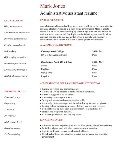 executive administrative assistant sample resume 9 best resume