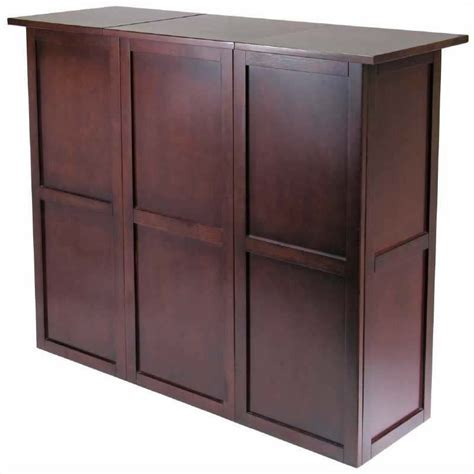home bar counter expandable counter home wine home bar in antique walnut