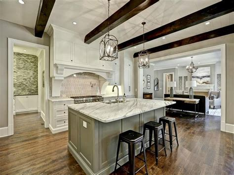 carrara marble kitchen island 50 gorgeous kitchen designs with islands designing idea