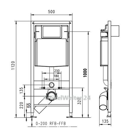 Wc Element Trockenbau by Jomo Wand Wc Element Trockenbau Vorwandelement Bh 1120mm