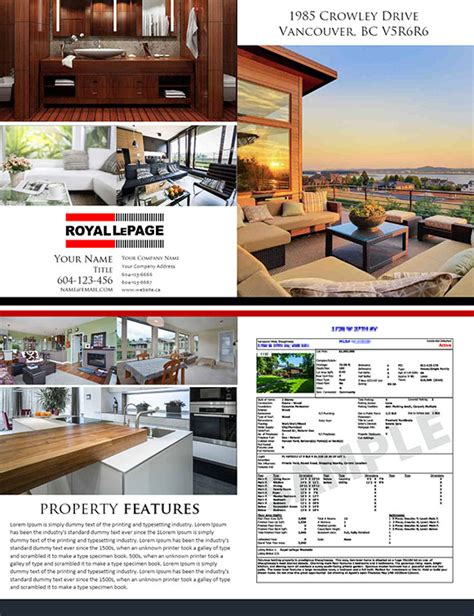 real estate feature sheet template free feature sheet 4 pages template 07 realtorpapa