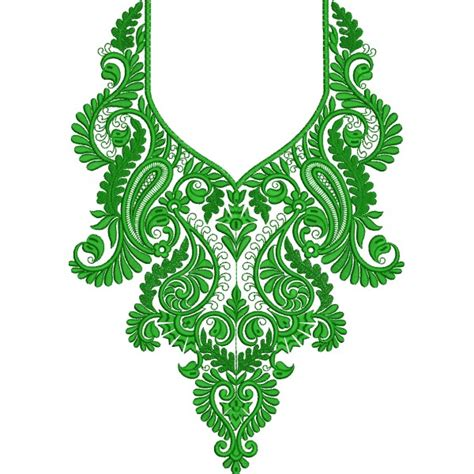 design embroidery online green neckline embroidery designs 001 embroideryshristi