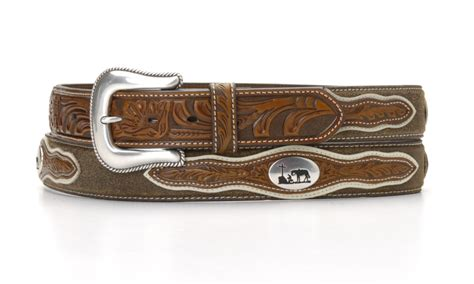 na 25012 08 s leather belt with cowboy prayer