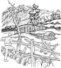 Free Coloring Pages Of Scenery Colorear Para Adultos Dibujo Paisaje Forestal