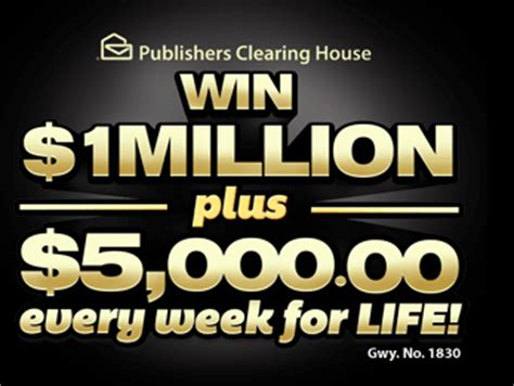 Publishers Clearing House Online Lottery - win 1 million pch publishers clearing house sweepstakes sweeps maniac
