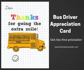 bus driver appreciation card free printable