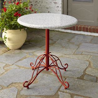 Granite Bistro Table Smith Cherry Valley Granite Bistro Table Limited Availability Outdoor Living Patio