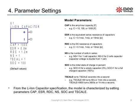 pspice capacitor esr pspice capacitor esr 28 images li ion capacitor model