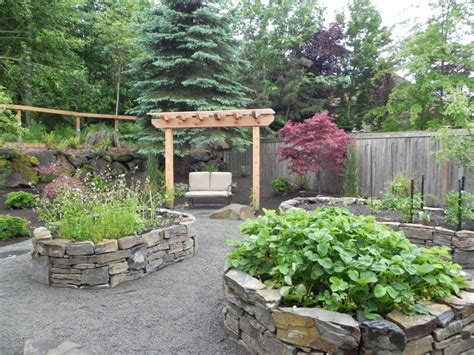 Stone Planter Boxes For Herb And Vegetable Garden House Backyard Planter Designs